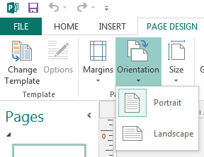 Page setup and layout tools in Publisher