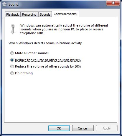 Using the Sounds settings in Windows Control Panel | OXEN