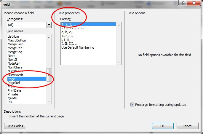 microsoft word update all fields