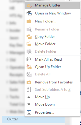 How to turn off Clutter in Outlook / Office 365 | OXEN