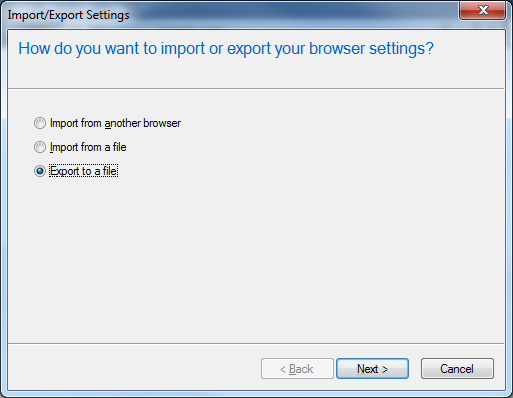 Exporting and importing Favorites in Internet Explorer | OXEN Technology