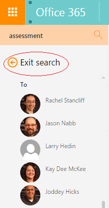 Search Office 365 email