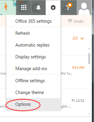 Modify your Office 365 Outlook layout | OXEN Technology