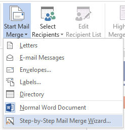 Using mail merge in microsoft word to insert a letters address a sidebar on the right will pop up where youll follow the 6 steps to complete your mail merge i am doing a letter but you can choose e mail envelopes spiritdancerdesigns Gallery