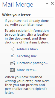 Using Mail Merge In Microsoft Word To Insert A Letter S Address