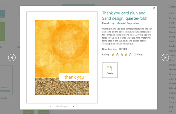 Create a Thank You Card in Microsoft Publisher – Microsoft Thank You Card Template