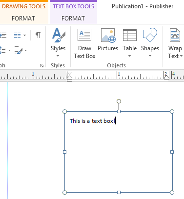 Everything you need to know about text boxes in Publisher