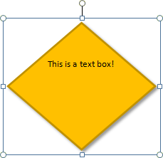 Text boxes in Publisher: Modifying a text box