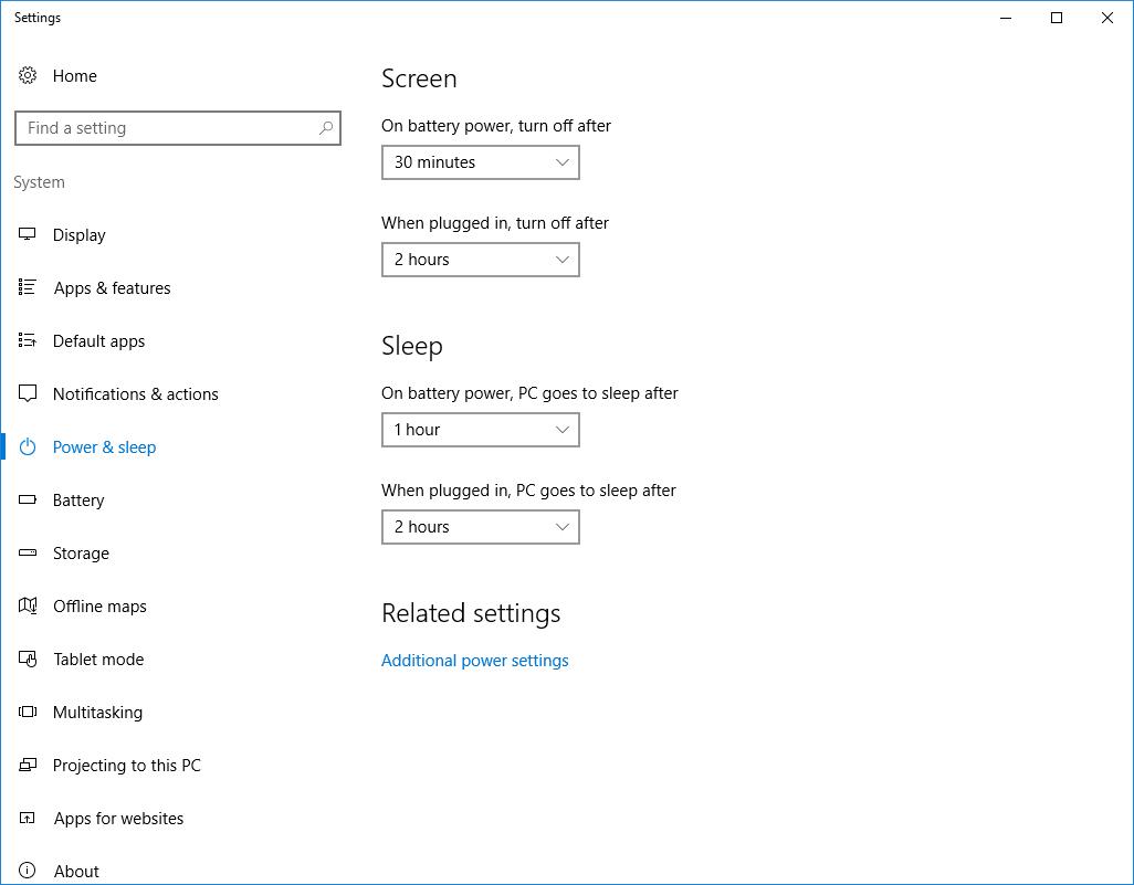 Windows 10 Tip: Modify sleep settings | OXEN Technology