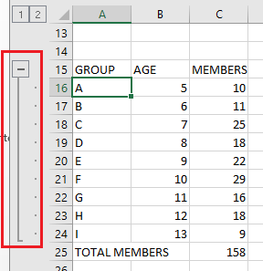 How to group rows and columns in Excel | OXEN Technology