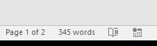 Tips for Word documents: Word count