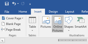 Tips for Word documents: Online pictures