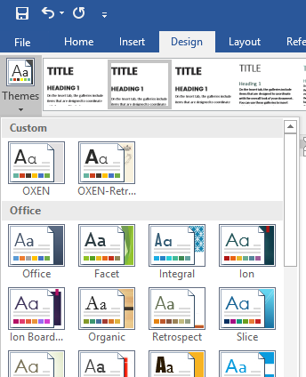 Tips for Word documents: Themes