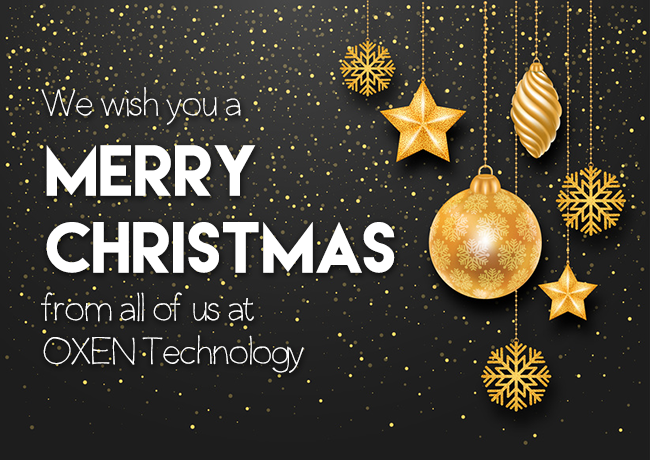 We wish you a Merry Christmas from all of us at OXEN Technology