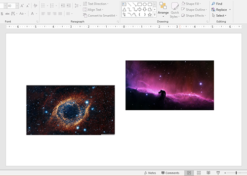Aligning objects in PowerPoint: Aligning objects to each other