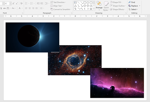 Aligning objects in PowerPoint: Evenly distribute objects horizontally and vertically