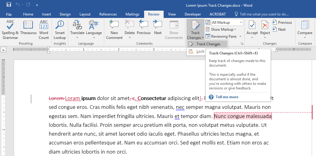 Using Track Changes In Microsoft Word For Editing And Review Oxen