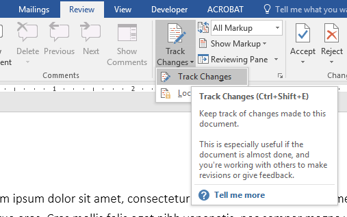 Using Track Changes in Microsoft Word for Editing and Review