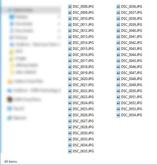 Batch renaming image files