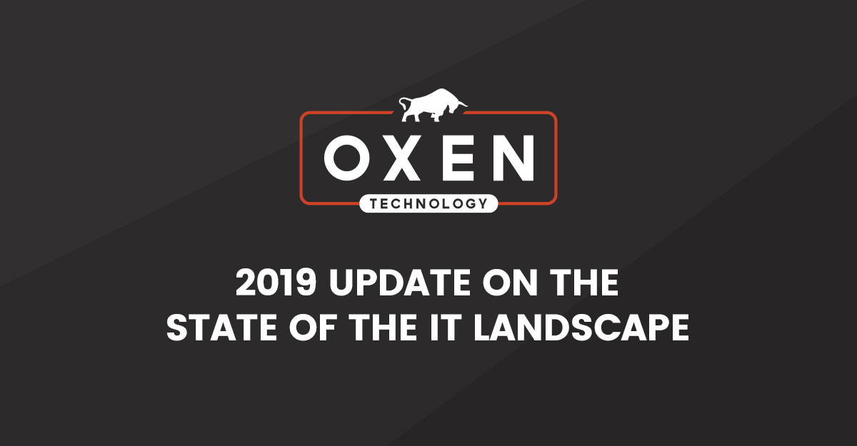 2019 State of the IT Industry Landscape by OXEN Technology