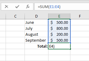 Basic math in Excel - Adding ranges of numbers