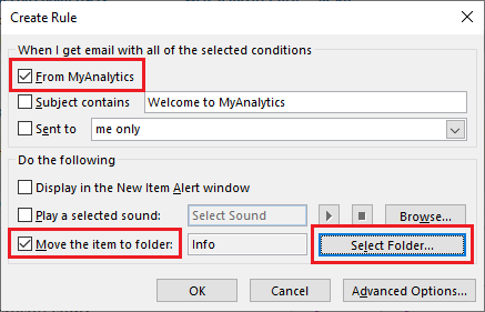 Create Rules to Sort Email in Outlook