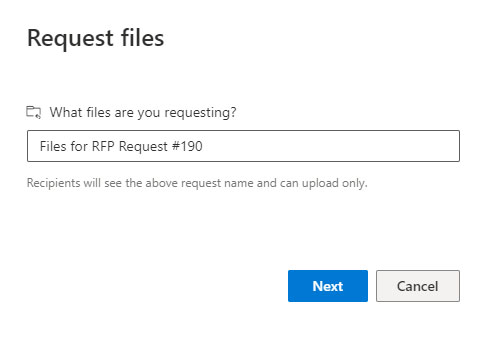 Naming a file request in OneDrive
