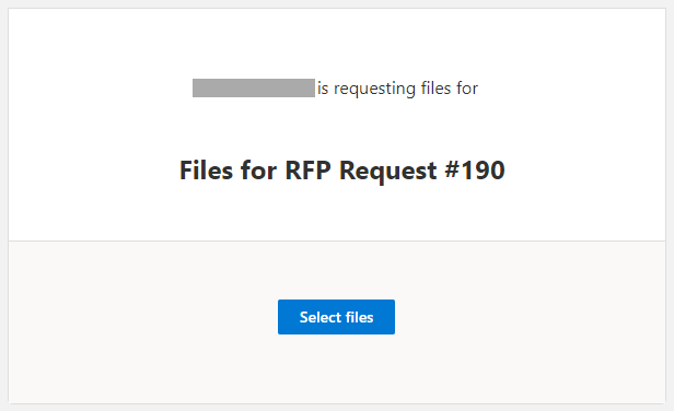 File request message to recipient in OneDrive