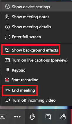 Show background effects in Microsoft Teams